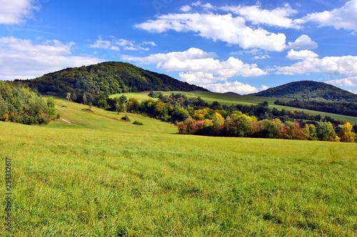 Poster Landschap Autumn landscape in Low Beskids (Beskid Niski), Slovakia