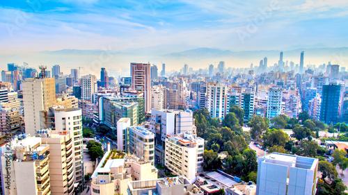 Naklejka premium widok z lotu ptaka na Bejrut, Liban
