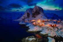 Hamnoy Fishing Village On Lofo...