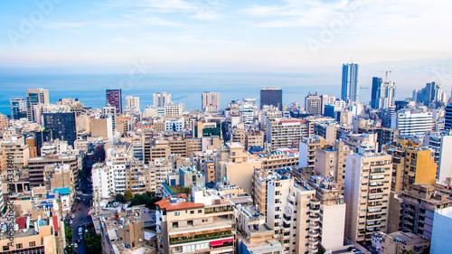 aerial view of Beirut, Lebanon Canvas Print