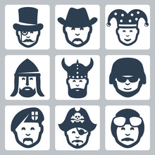 Vector Profession Icons Set: M...