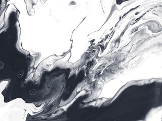 Black and white creative abstract hand painted background.