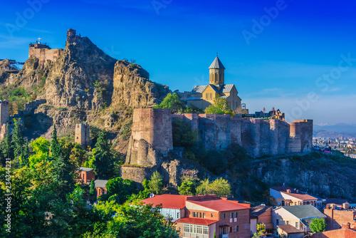 obraz lub plakat View of Narikala fortress in Tbilisi, the capital Georgia