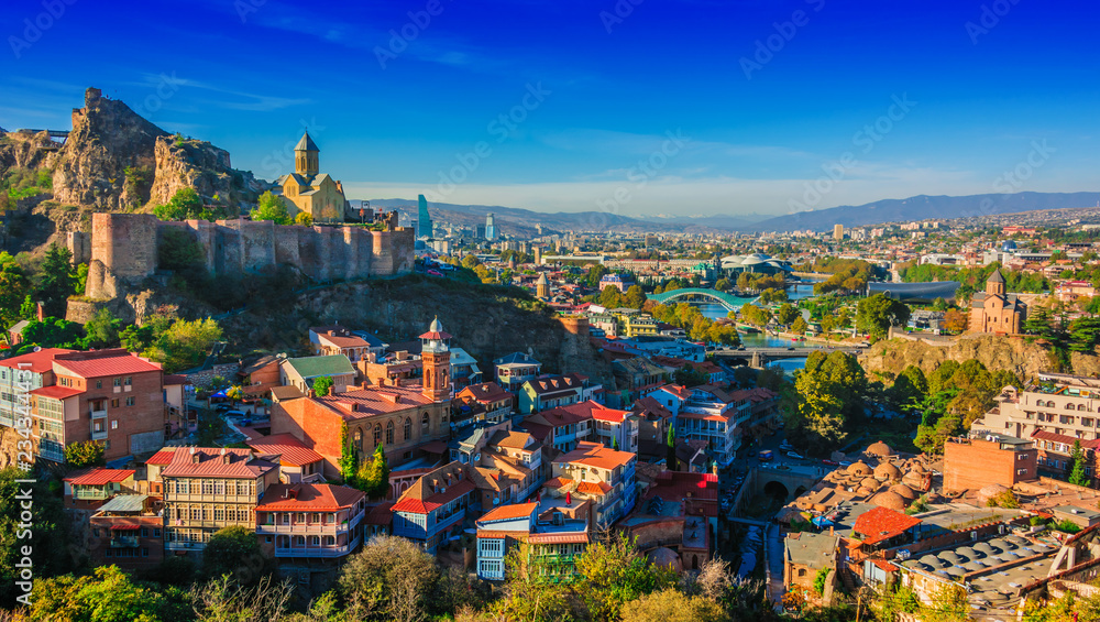 Fototapety, obrazy: Panoramic view of Tbilisi, Georgia