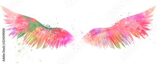 Foto  magic watercolor wings
