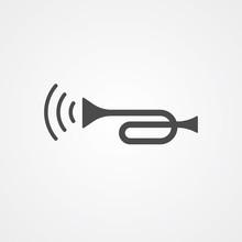 Car Horn Vector Icon Sign Symbol