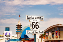 Route 66 Highway Sign At The E...