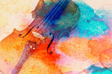 Abstract violin background - violin lying on the table