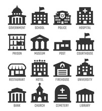 Government Buildings Vector Ic...