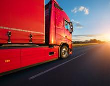 Loaded European Truck On Motor...