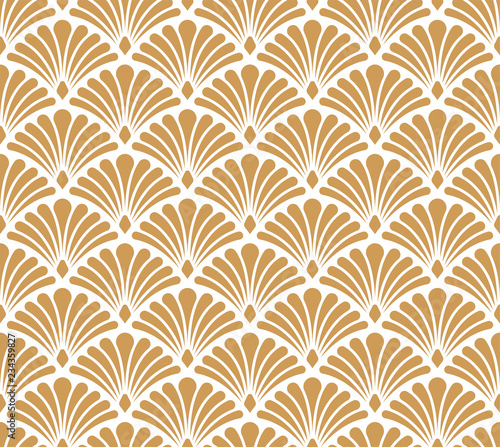 Vector Classic Floral art nouveau Seamless pattern. Stylish abstract art deco texture. Wall mural