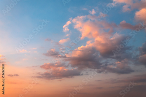 Fototapety, obrazy: Red clouds sunset with the sky in background.