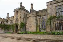 English Countryside Stone Castle House Haddon Hall