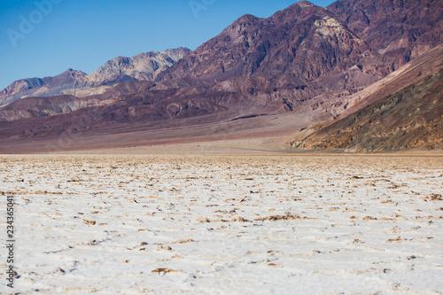 Keuken foto achterwand Verenigde Staten Vibrant view of Badwater basin, endorheic basin in Death Valley National Park, Death Valley, Inyo County California, USA