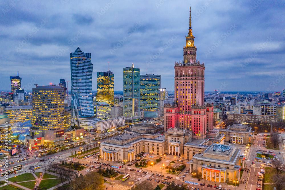 Obraz Warszawa fototapeta, plakat