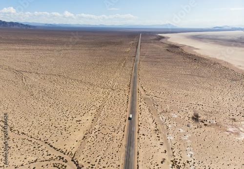 Keuken foto achterwand Verenigde Staten View of Mojave Desert panorama, an arid rain-shadow desert and the driest desert in North America, California, United States of America