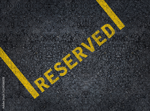 Canvastavla Word reserved written with paint on road asphalt