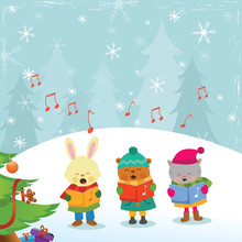 Cute Animals Singing Christmas Carol