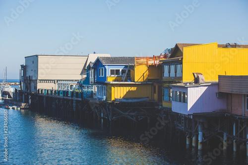 Keuken foto achterwand Verenigde Staten View of Monterey Old Fisherman's wharf, Monterey County, California, USA