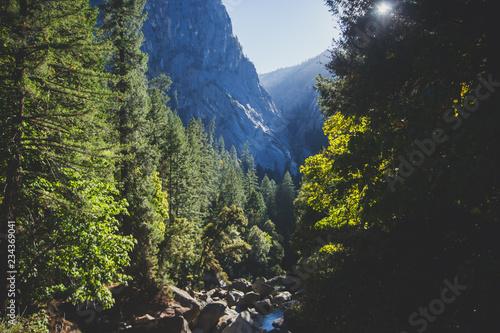 Keuken foto achterwand Verenigde Staten View of Mist Trail of Yosemite National park, Sierra Nevada, California, United States of America