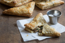 Savory Puff Pastry Stuffed With Mushrooms And Vegetables