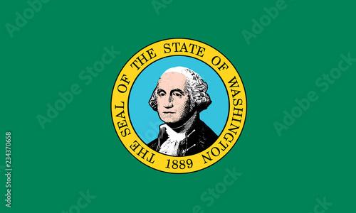 Fototapeta flat washington state flag - usa obraz