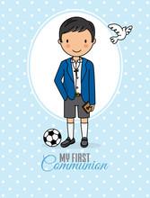 My First Communion Boy. Boy In...