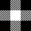 Black gingham pattern background.Texture from rhombus.Vector illustration