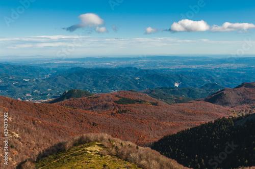 Autumn landscape in Parc Natural del Montseny, Catalonia, Spain