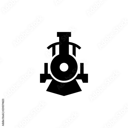 Photo front view transport, locomotive icon