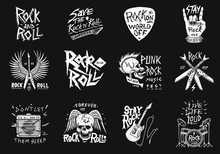 Set Of Rock And Roll Music Sym...