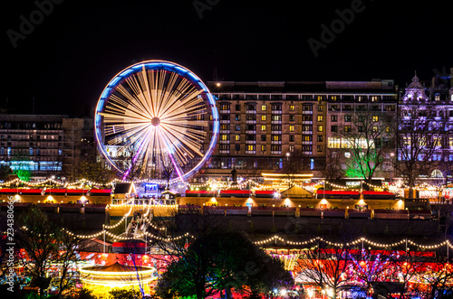 Foto op Aluminium Carnaval Christmas Market at Night