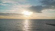 calm sea during sunset. Calm sea
