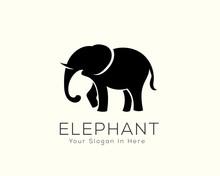 Stand Black Elephant Logo Design Inspiration