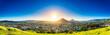 canvas print picture Golden sun setting, San Luis Obispo, CA