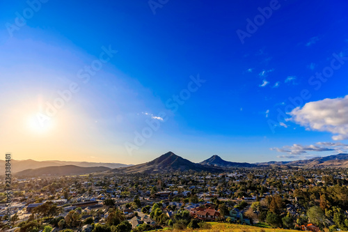 Blue Sky over San Luis Obispo, CA