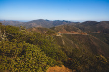 View Of Hawk Hill In A Summer Sunny Day, Marin Headlands, Golden Gate National Recreation Area, Marin County, California
