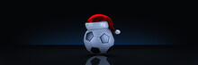 Christmas Concept. Soccer Ball...