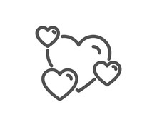 Hearts Line Icon. Favorite Lik...