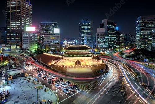 Canvas Prints Seoul View of downtown at namdaemun gate in seoul south Korea