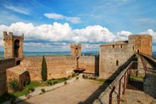 Courtyard Of Montalcino Fortre...