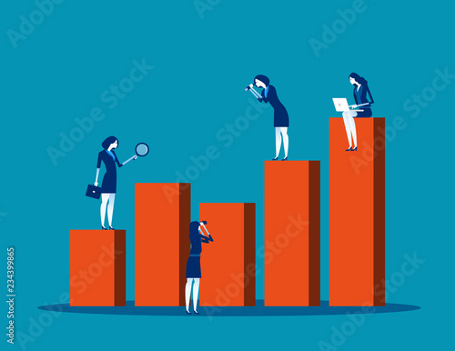 Fotografía  Business team people analyze graph