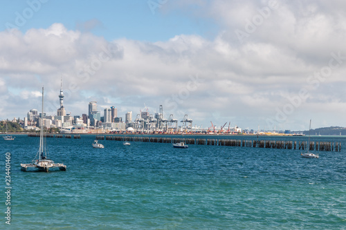 Foto op Aluminium Oceanië Auckland panorama with copy space from Judges Bay, New Zealand