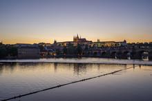 Night View Of Prague City Skyl...
