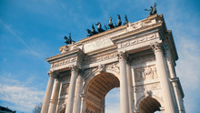 Porta Garibaldi, Also Known As The Porta Comasina, Is A City Gate Located In Milan, On The Old Road To Como. This Neoclassical Arch Was Built To Commemorate The Visit Of Francis I Of Austria In 1825