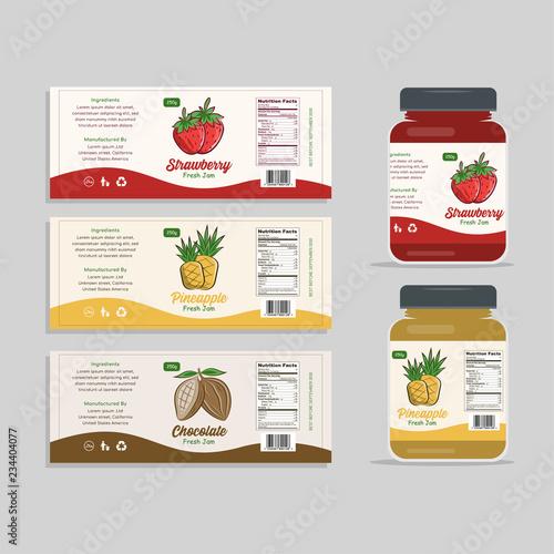 Fotografija Jam Label Packaging Design