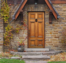Front Door Of Old Stone House ...