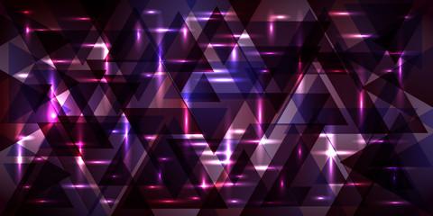 Vector pattern of metal in cosmic violet tones.