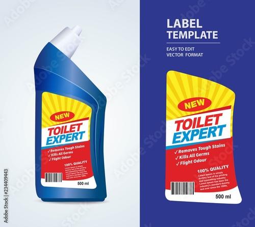 Fototapeta Bottle label, Package template design, Label design, mock up design label template obraz