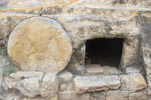 A Typical Rock Hewn Sepulchre On The Road To Megiddo In Israel